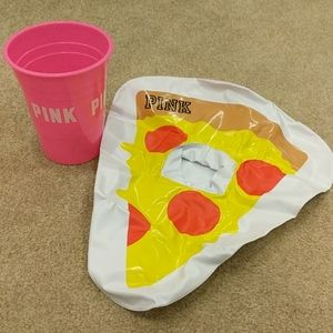 Inflatable pizza cup holder